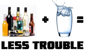 When Drinking Alcohol make sure you are drinking water through out a night.