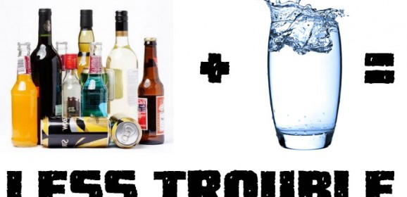 1 to 1 Liquor to Water Rule Keep Safe and Sober